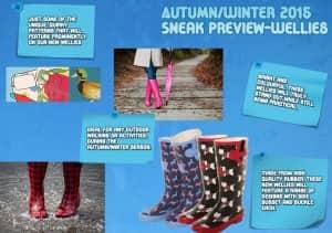 Autumn/winter wellies sneak preview