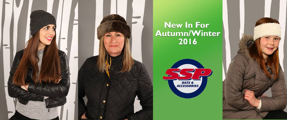 banners showing some of SSP Hats new hats for Autumn/Winter 2016