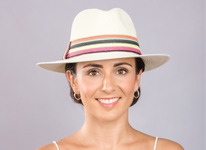 New wholesale ladies straw hat on model