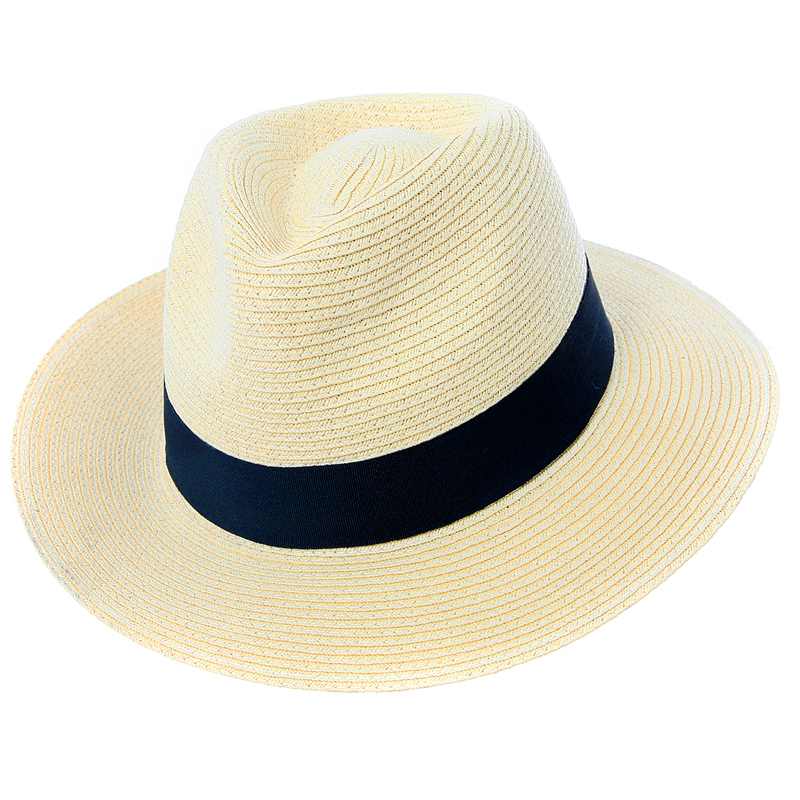 Wholesale mens straw hats with black band