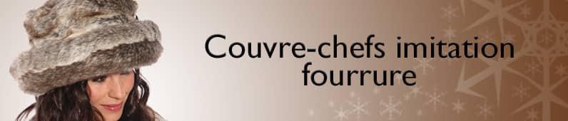 Couvre-chefs imitation fourrure