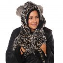 ADULTS' FAUX FUR HOOD