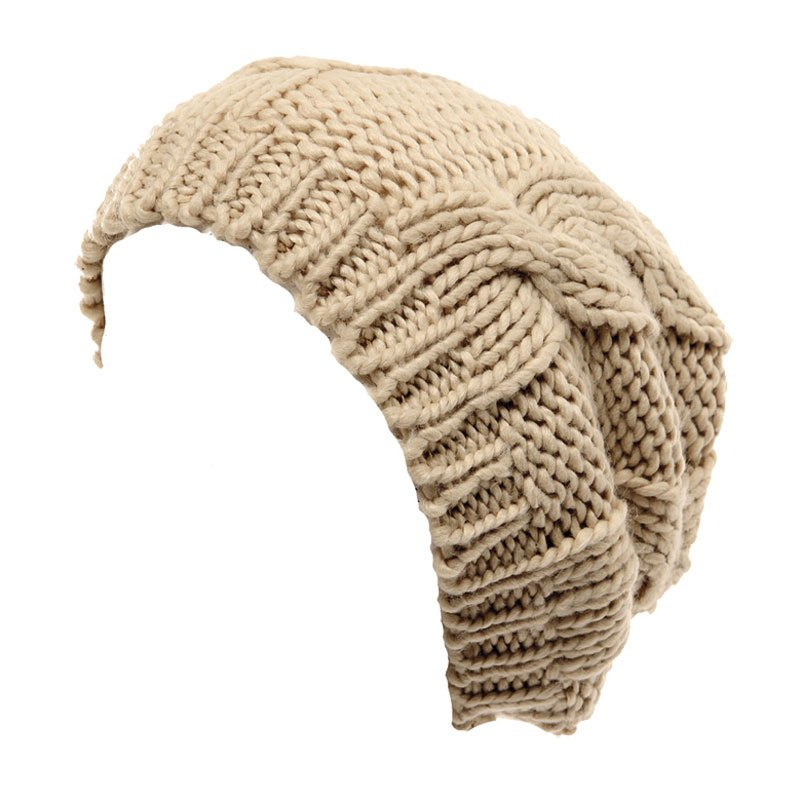 A765 - womens cable knit baggy beanie - SSP Hats